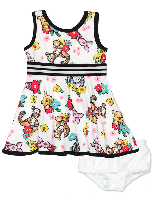 Winnie The Pooh Baby Girls Fit and Flare Ultra Soft Dress<br>
