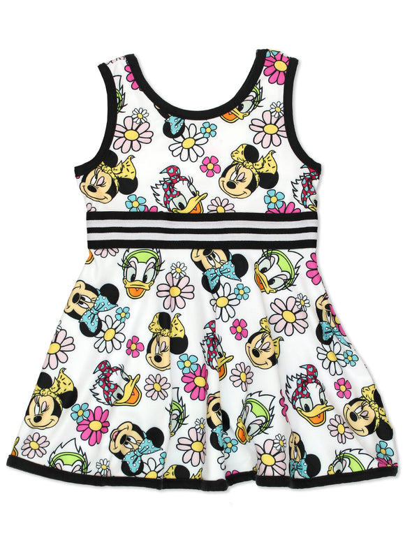 Minnie Mouse Daisy Duck Toddler Girls Fit and Flare Ultra Soft Dress