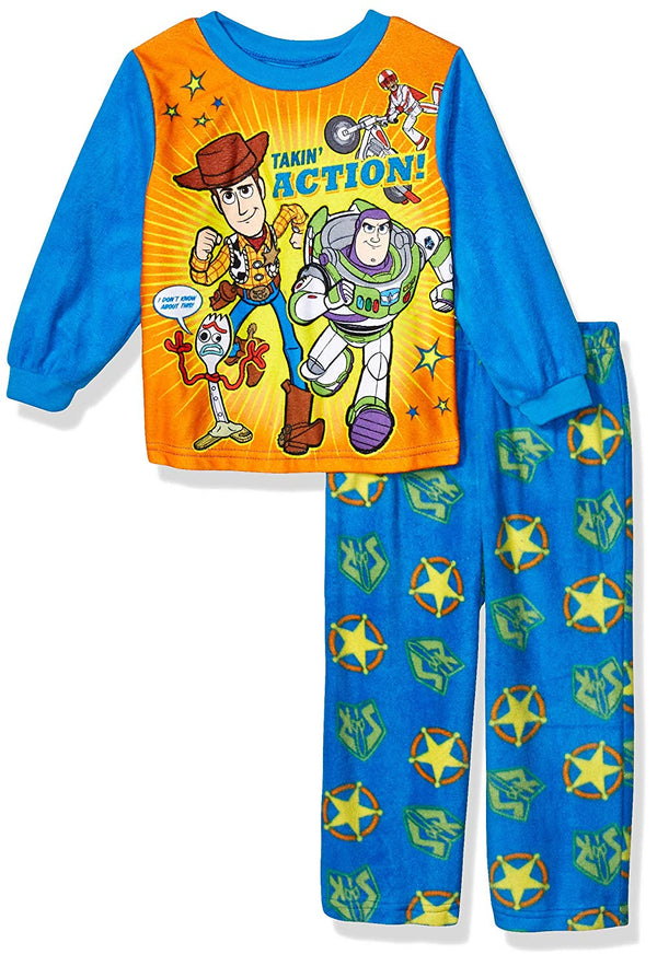 Toy Story 4 Toddler Boys Fleece 2-Piece Long Sleeve Pajamas Set