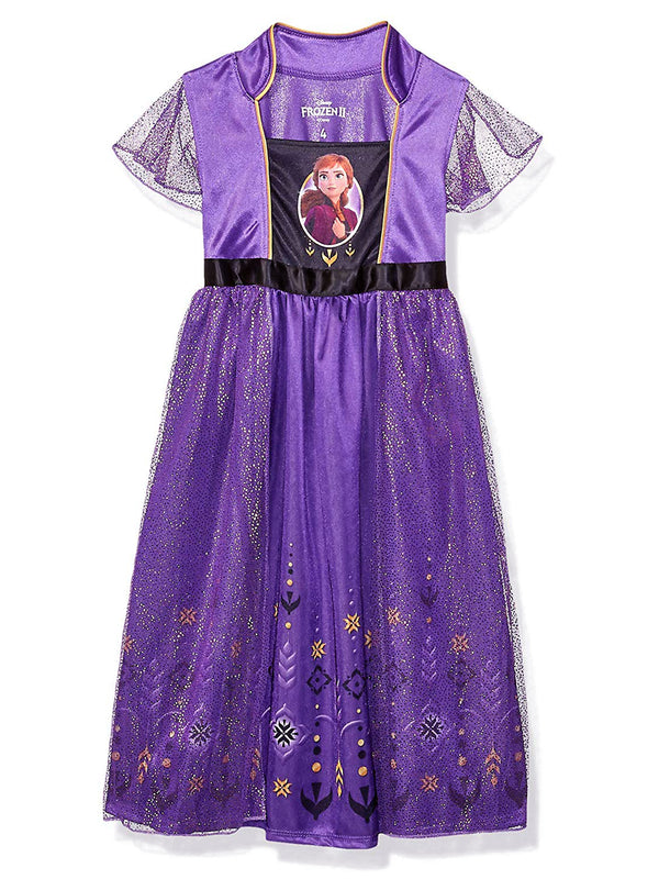 Frozen 2 Elsa Anna Girls Fantasy Gown Nightgown Pajamas