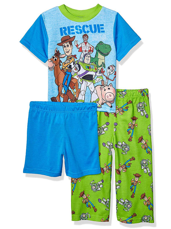 Toy Story 4 Toddler Boy's 3 Piece Short Sleeve Shorts Pajama Set