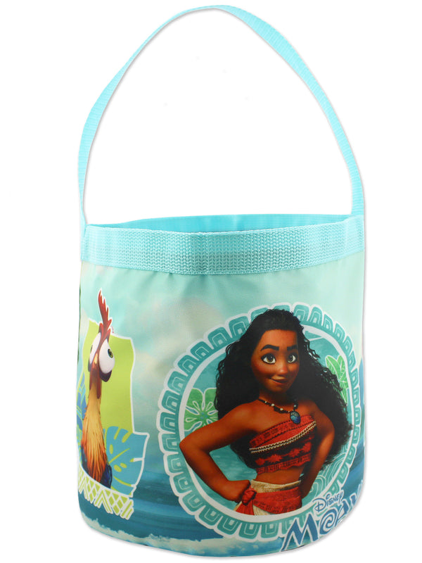 Moana Maui Girls Collapsible Nylon Gift Basket Bucket Toy Storage Tote Bag