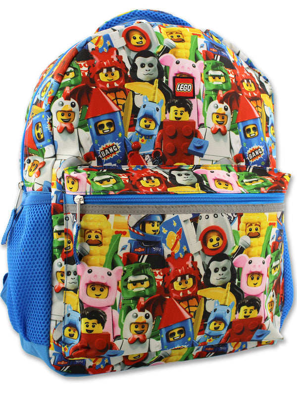 Lego Minifigures Boy's Girl's 16 Inch School Backpack