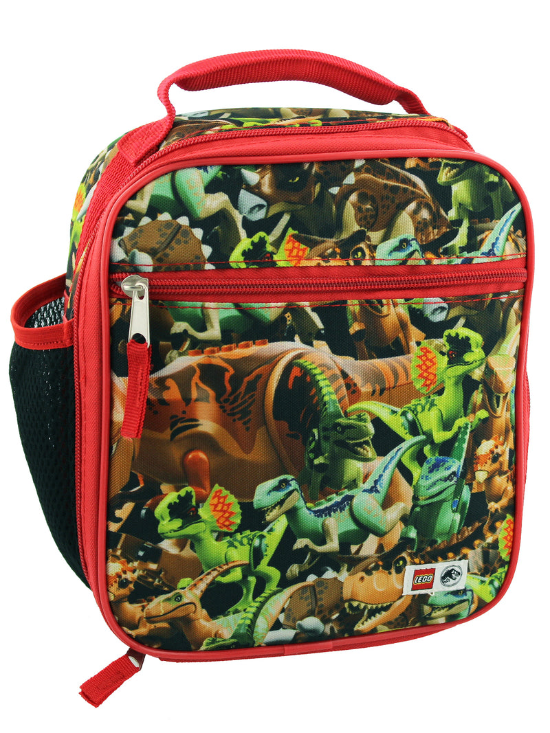 Lego Jurassic World Dinosaurs Boys Soft Insulated School Lunch Box