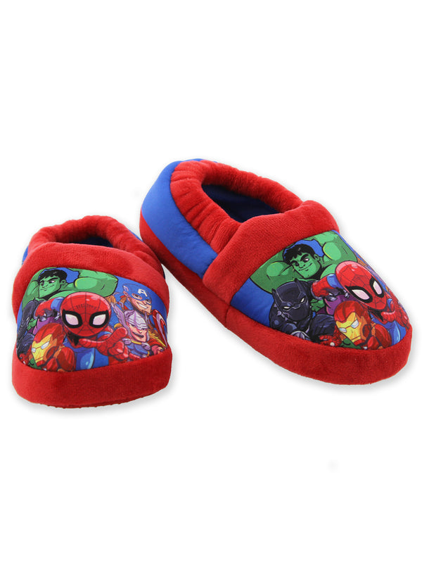 Marvel Super Hero Adventures Avengers Boy's Toddler Plush Aline Slippers