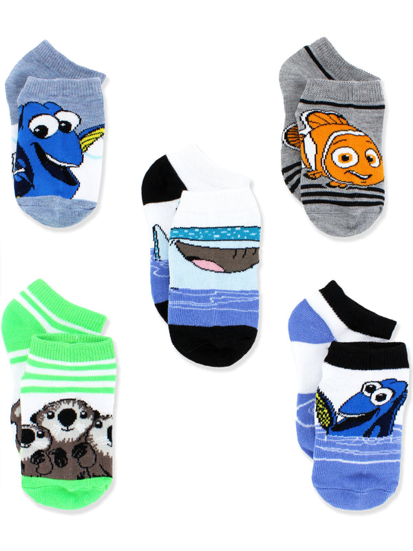 Finding Dory Nemo Boys Toddler 5 pack Socks Set