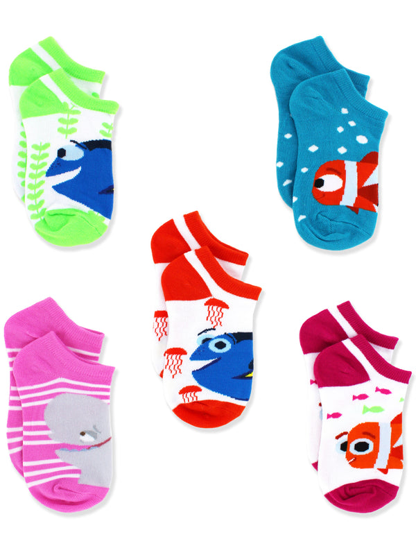 Finding Dory Nemo Girls 5 pack Socks Set