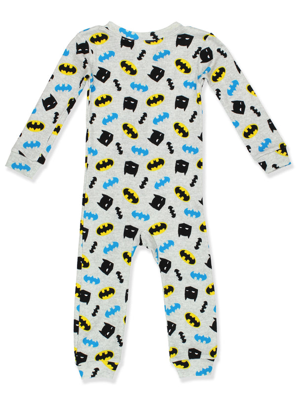 Batman Toddler Boy's Cotton Footless Blanket Sleeper Pajamas