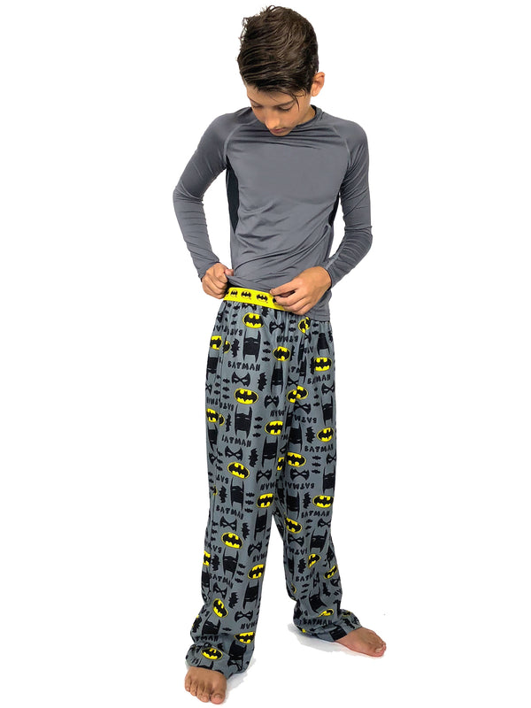 Batman Boy's Flannel Pajama Lounge Pants
