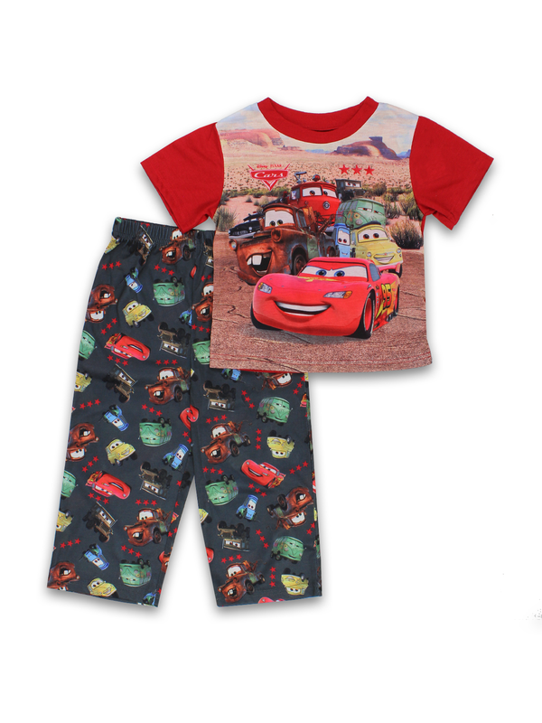 Disney Cars Toddler Boys 2 piece Short Sleeve Pants Pajamas Set