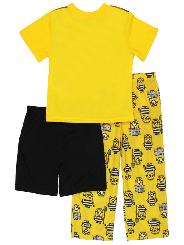 Despicable Me 3 Minions Boys 3 piece Shorts Pajamas Set
