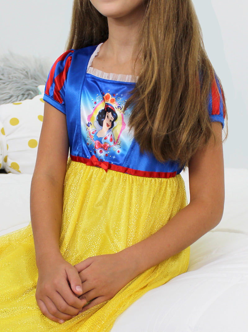 Disney Princess Snow White Girls Fantasy Nightgown Costume Pajamas