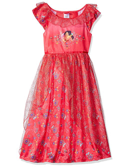 Elena of Avalor Girls Fantasy Gown Nightgown Costume Pajamas