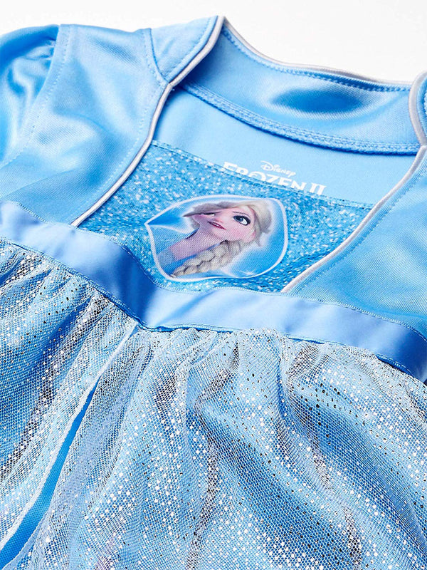 Disney Frozen 2 Queen Elsa Girl's Fantasy Gown Nightgown Pajamas