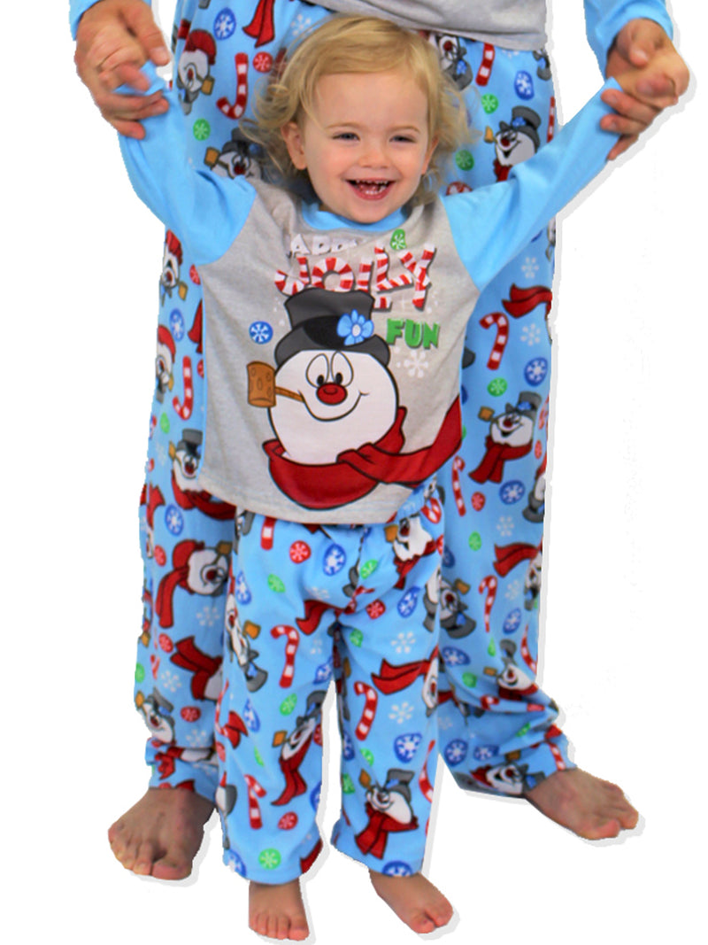Frosty the Snowman Christmas Holiday Toddler Fleece Pajamas