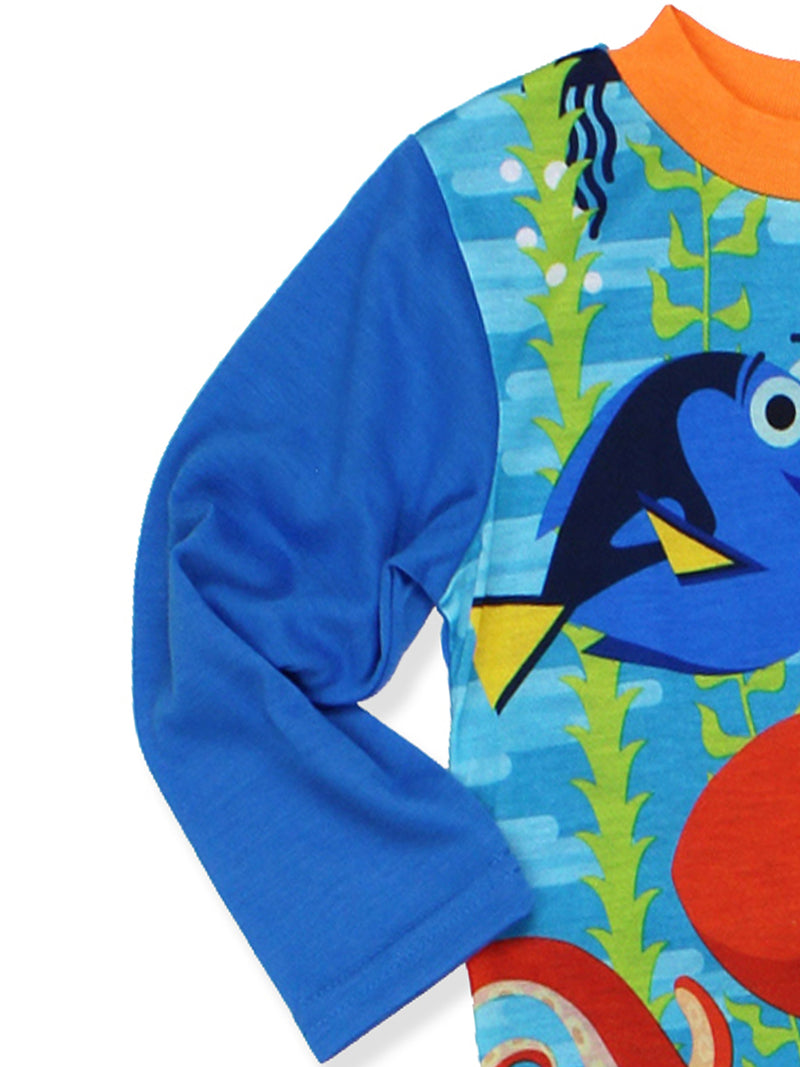 Finding Dory Nemo Boys Poly Top with Flannel Pants Pajama Set