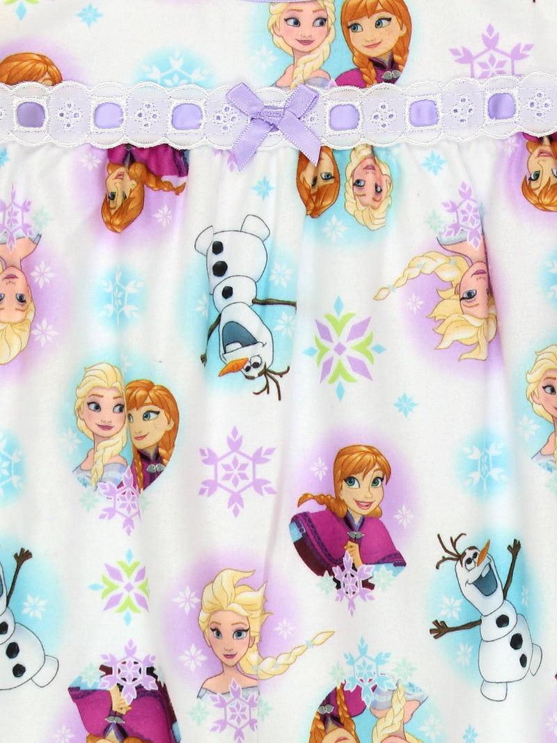 Frozen Elsa Anna Girls Flannel Granny Gown Nightgown Pajamas