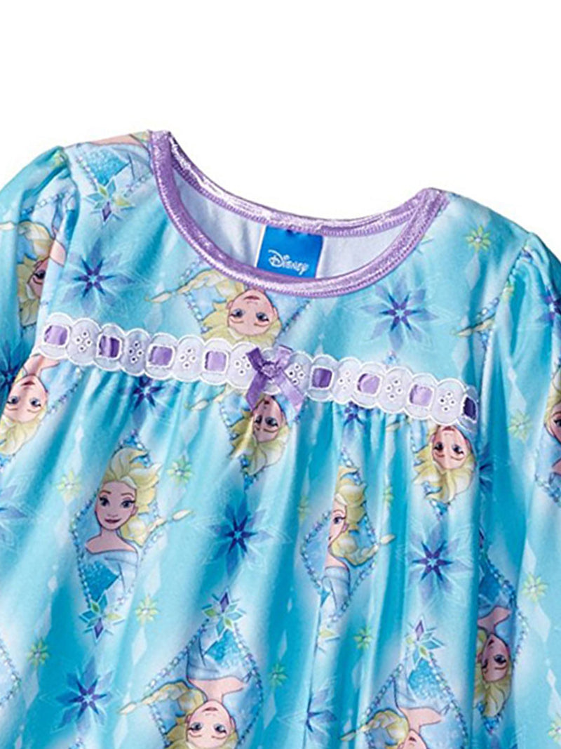 Frozen Elsa Girls Flannel Granny Gown Nightgown Pajamas