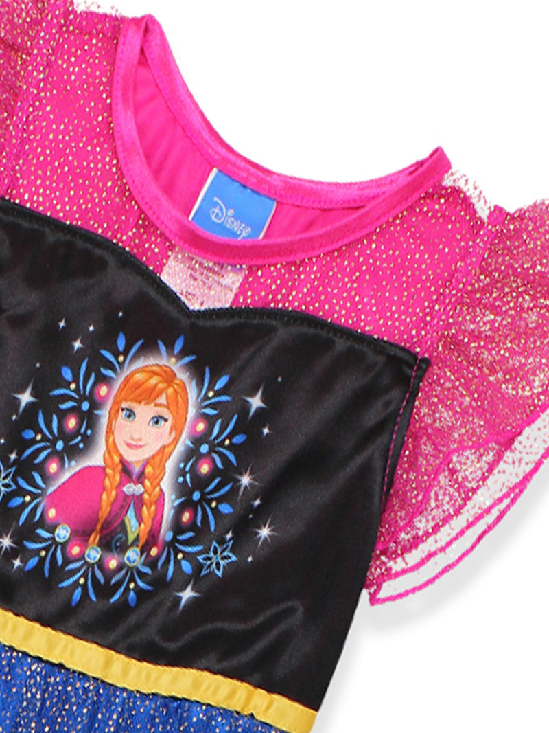 Frozen Elsa Anna Girls Fantasy Gown Nightgown Pajamas