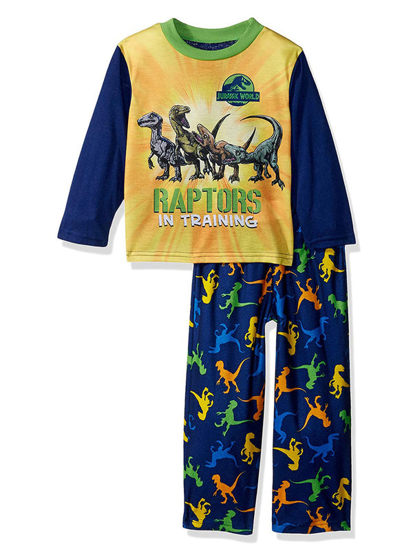 Jurassic World Raptor Dinosaur Toddler Boys Pajamas Set