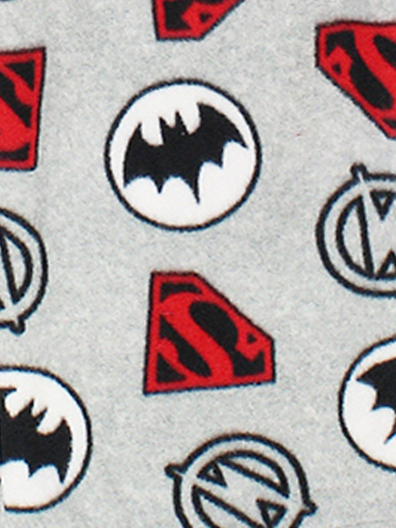 Justice League Chibis Toddler Boy's Fleece Pajamas Set
