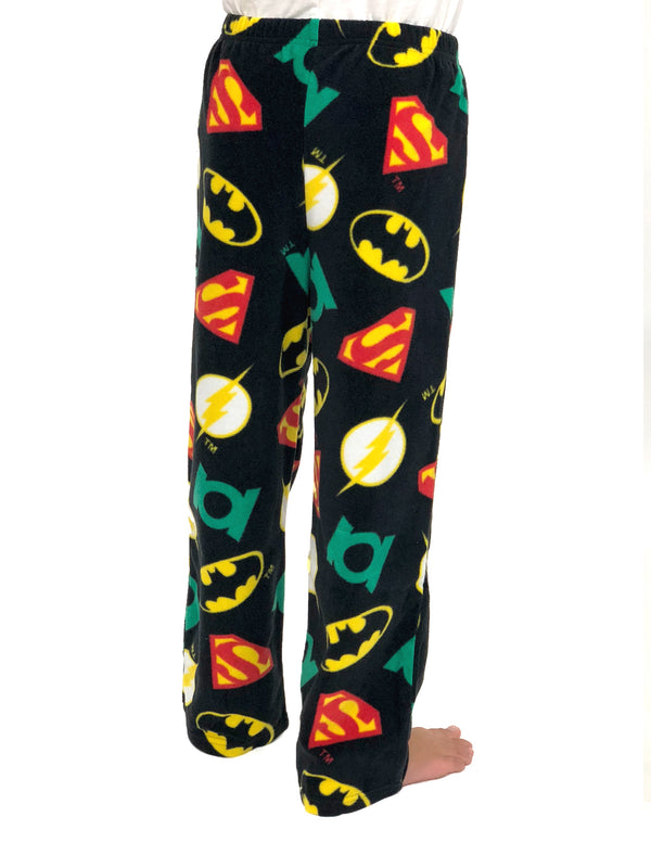 Justice League Boys Plush Fleece Lounge Pajama Pants
