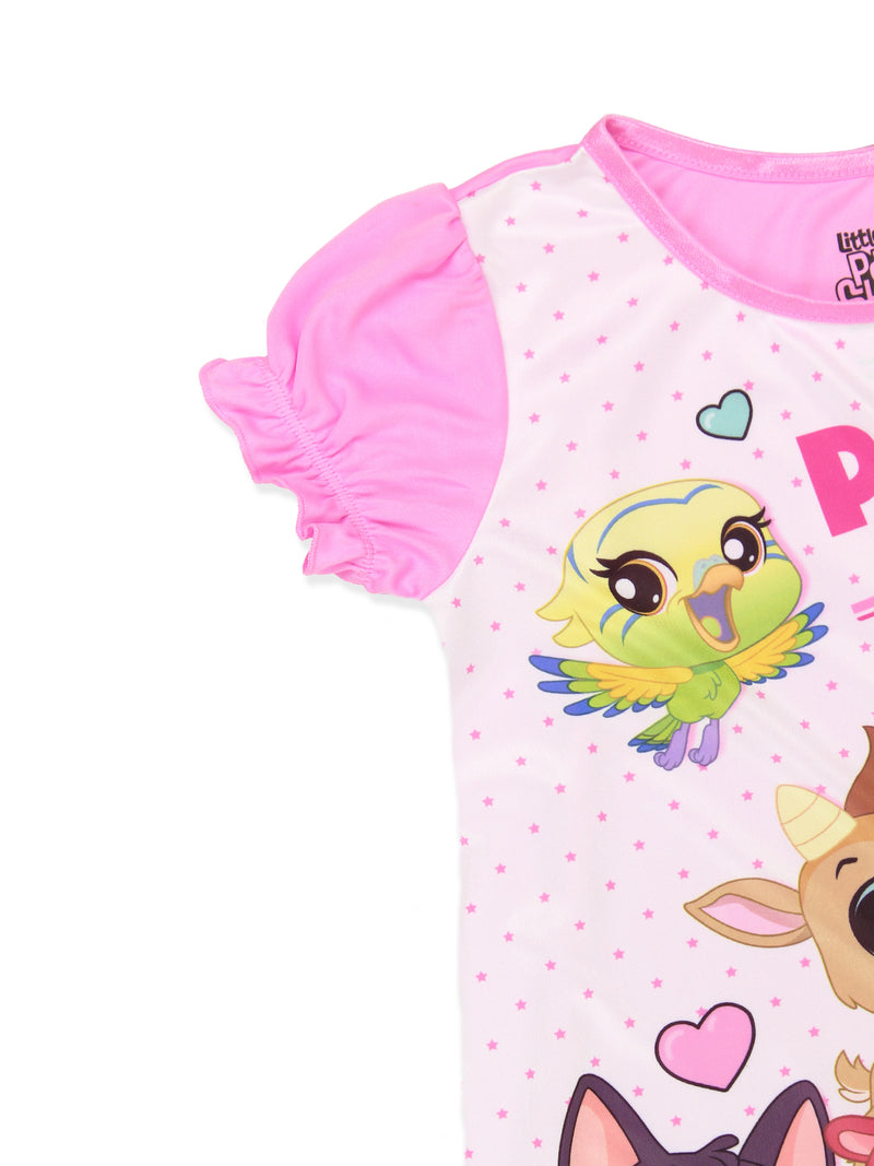 Littlest Pet Shop LPS Girl's Short Sleeve Nightgown Pajamas