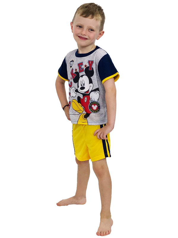 Mickey Mouse Toddler Boys 3 piece Shorts Pajamas Set