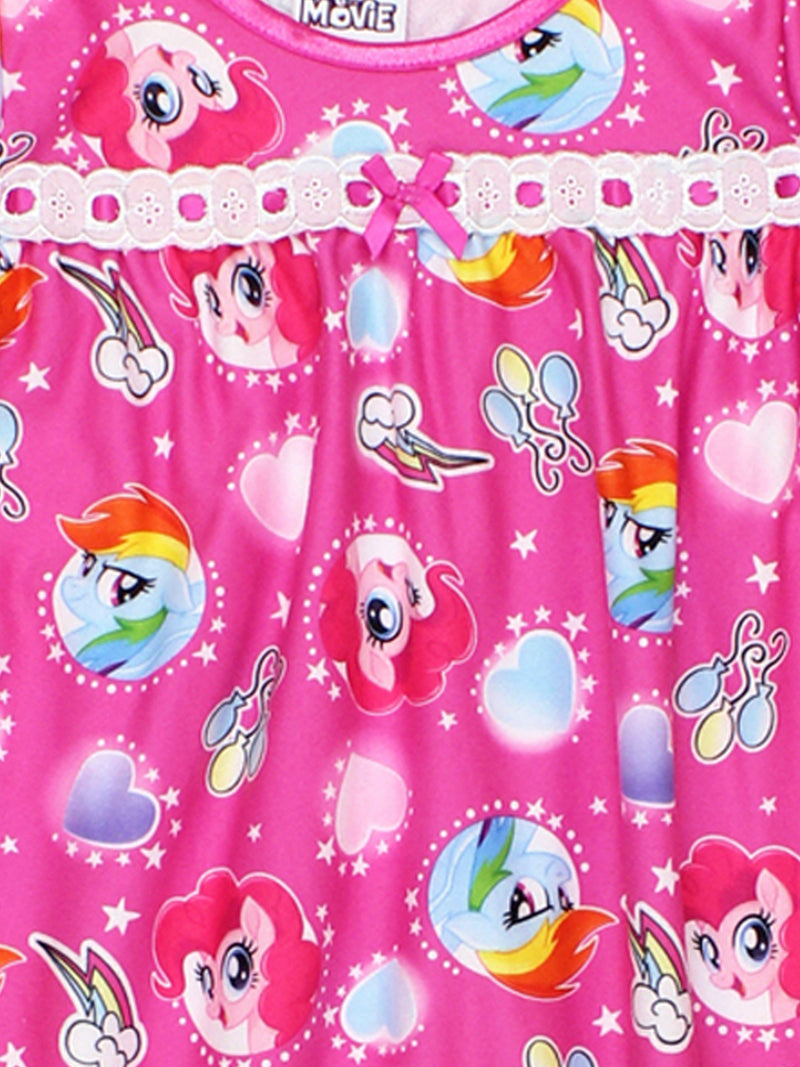 My Little Pony Girls Flannel Granny Gown Nightgown Pajamas