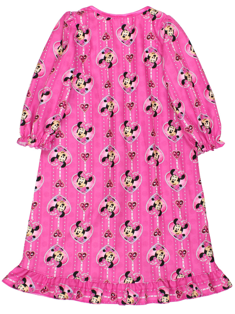 Minnie Mouse Toddler Girls Flannel Granny Gown Nightgown Pajamas