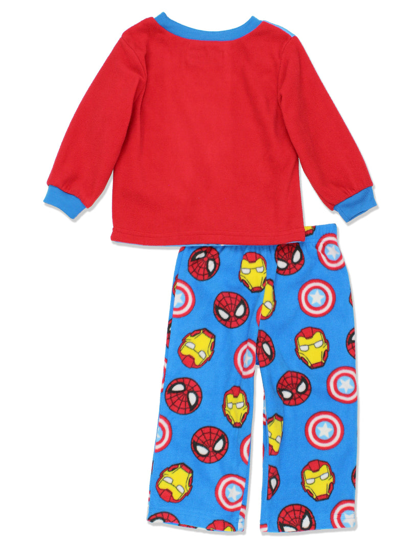 Marvel Super Hero Adventures Toddler Boys Long Sleeve Fleece Pajamas Set