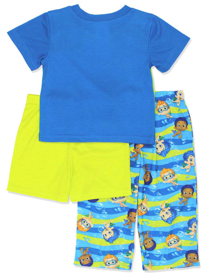 Bubble Guppies Toddler Boys 3 piece Shorts Pajamas Set
