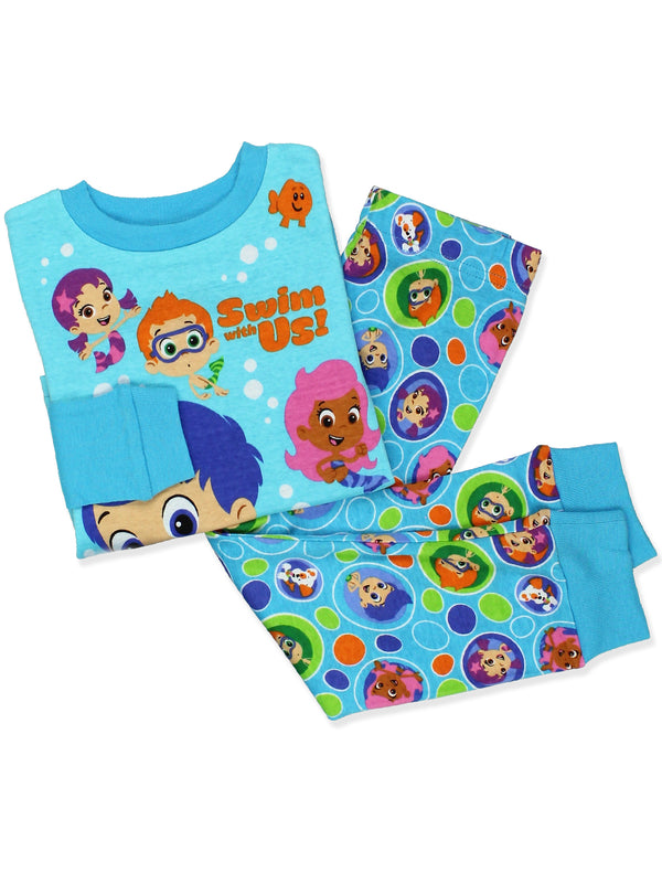 Bubble Guppies Toddler Boy's Girl's 2 Piece Long Sleeve Cotton Pajamas Set