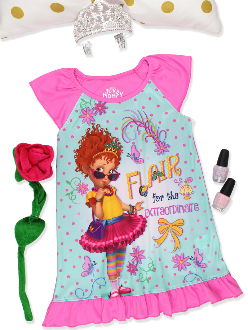Disney Fancy Nancy Girl's Dorm Nightgown Pajamas