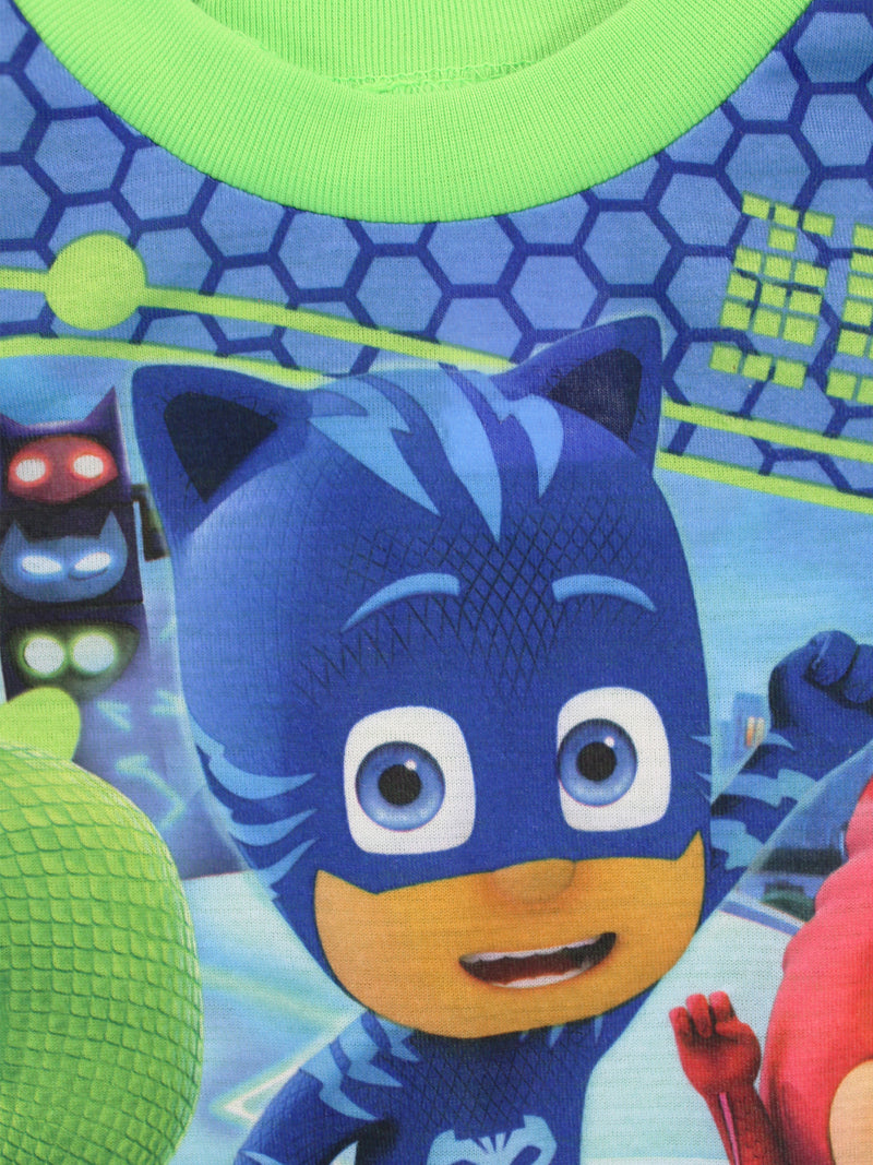 PJ Masks Toddler Boys Long Sleeve Pajamas with Cape