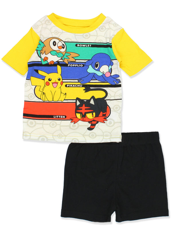 Pokemon Pikachu Boy's 2fer 4 piece Cotton Pajamas Set