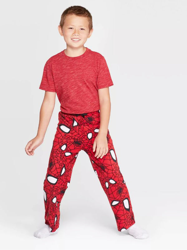 Marvel Spider-Man Boys Plush Fleece Lounge Pajama Pants