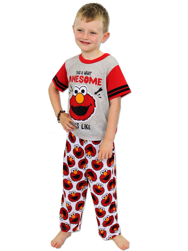 Sesame Street Elmo Toddler Boys 3 piece Pajama Pant and Short Set