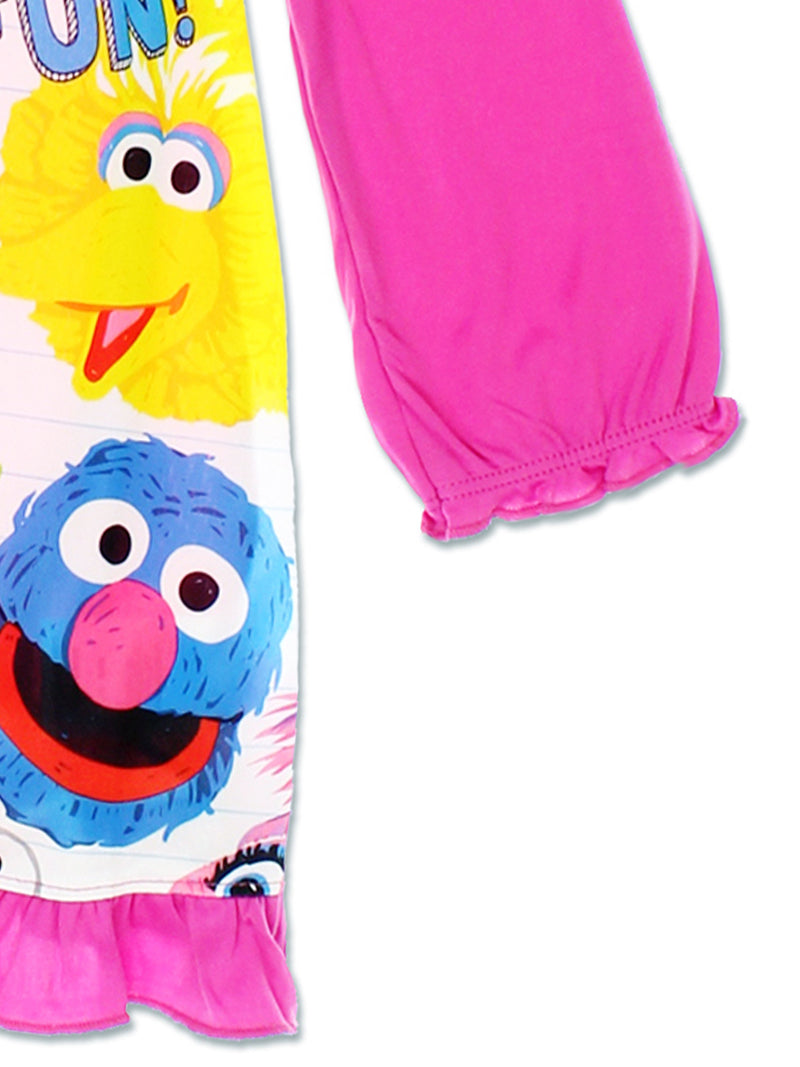 Sesame Street Toddler Girls Long Sleeve Nightgown Pajamas