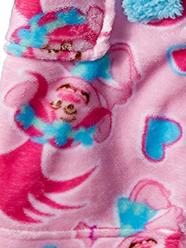 Trolls Poppy Girls Fleece Bathrobe Robe (Little Kid/Big Kid)