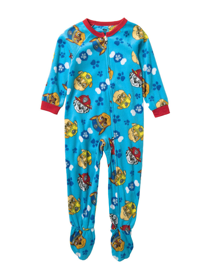 Paw Patrol Toddler Boys Soft Fleece Footed Blanket Sleeper Pajamas
