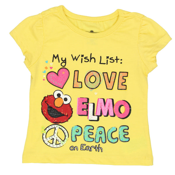 Sesame Street Elmo Girls Short Sleeve Tee (Baby/Toddler)