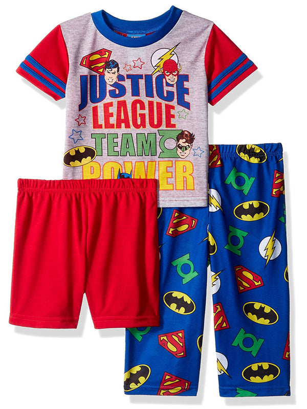 Justice League Toddler Boys 3 piece Pajamas Set