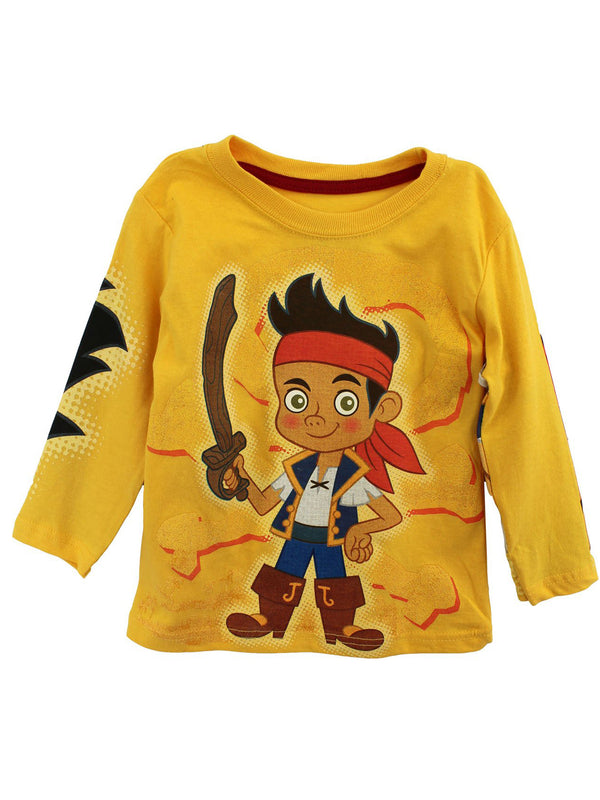 Jake and the Never Land Pirates Toddler Boys Long Sleeve T-Shirt Tee