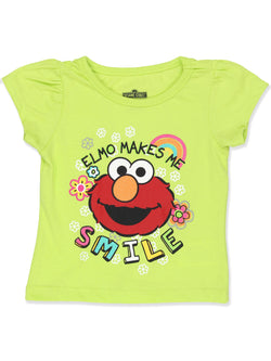 Sesame Street Elmo Toddler Girls Short Sleeve T-Shirt