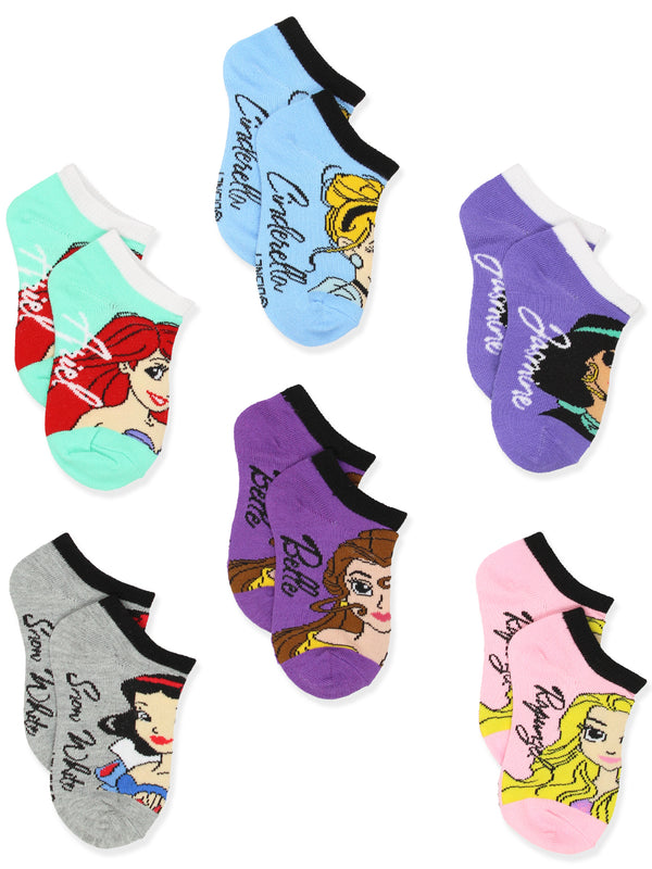 Disney Princess Toddler Girls Teens Womens 6 pack Socks Set