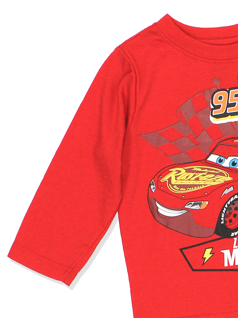 Disney Cars 3 Lightning McQueen Boys Long Sleeve T-Shirt
