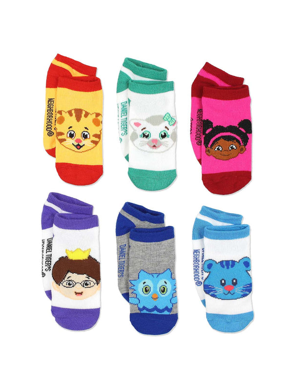 Daniel Tiger's Neighborhood Toddler Boys Girls 6 pack Socks