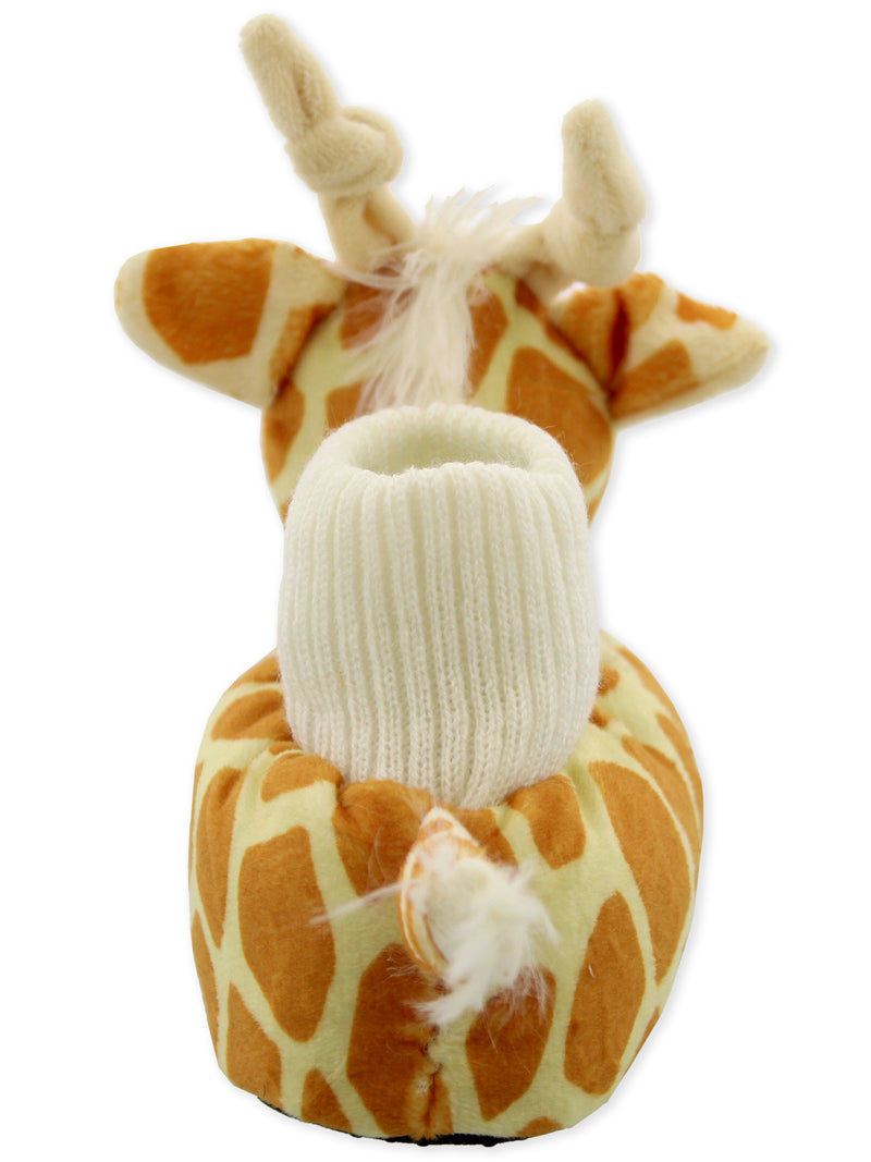 Yankee Toy Box Plush Giraffe Animal Toddler Boys Girls Sock Top Slippers