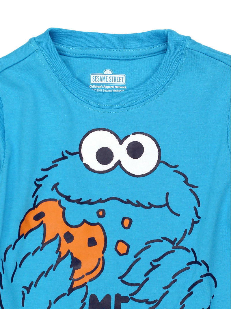Sesame Street Cookie Monster Baby Toddler Boys Short Sleeve Tee